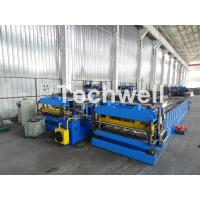 Cheap Automatic PLC Controlled Tile Roll Forming Machine For Steel Metal Glazed Tile for sale