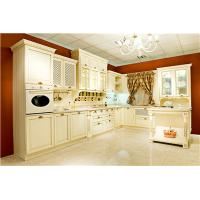 Cheap classic Russian style white glazed kitchen cabinet for sale