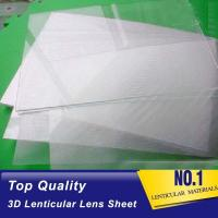 Cheap Plastic  Lens PS/PET/PP Material 75/100/161 Lpi 3d lenticular lens sheet lenticular printing films with 3d flip effect for sale