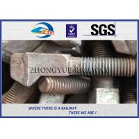 Quality M20x100mm Special railroad bolts with clip bolt head HDG coating wholesale