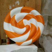large fiberglass  statue  colorful lollipop model as decoration  in plaza hall or square