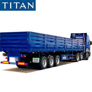 Cheap Triaxle Trailer with Side Boards for Sale - TITAN Vehicle for sale