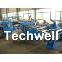 Cheap Simple Steel / Metal Slitting Machine For Slitting 0.2 - 1.8 * 1300 Coil Into 10 Strips for sale