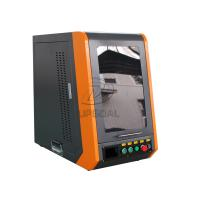 Cheap Closed Type 20W 110*1100mm Fiber Laser Marking Machine for Metal for sale