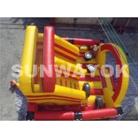 Cheap Carriage Wheel Inflatable Bouncy Obstacle Course Inflatables Interactive Games for sale