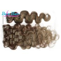 Cheap Ash Blonde Loose Wave Clip In Brazilian Human Hair Extension 10 Inch With No Shedding wholesale