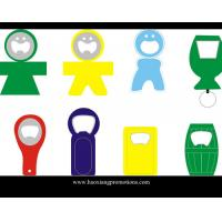 Cheap Made in China Eco-friendly promotiona metal with PVC beer bottle opener for sale