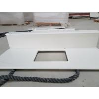 Cheap Engineering Solid Stone Countertops 93% Quartz Sand Polished Glossy Surface for sale