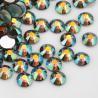 Buy cheap Non Hot Fix Flat Back Rhinestone Beads Golden Foil Glass Materail Grade AAAAA from wholesalers