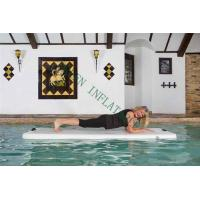China Grey Top Portable Inflatable Yoga Mat On Water 220x85x15cm Eco Friendly on sale