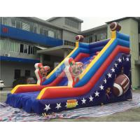 Cheap Customized Single Lane Rugby Commercial Inflatable Slide For Playground for sale