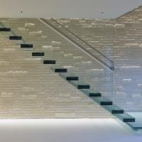 Buy cheap American building code kit cantilever stairs / glass beautiful floating stairs from wholesalers