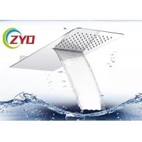 Cheap 230x530mm Solid Square Ultra Thin Brushed 304 Stainless Steel Waterfall Shower Sprinkler  Head for sale