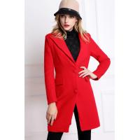 China 2014 NEW Winter  Women Brand Blue Sky Butterfly Women fashion slim style long-sleeved red wool coat D884 in stock now on sale