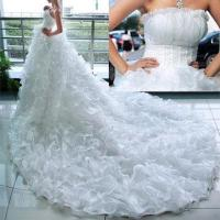 China Cathedral Royal Train Wedding Dresses on sale