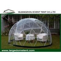 China Aluminum Frame Prefab Large Glass Dome Tent Garden House For Party on sale