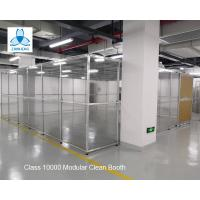 Cheap Class 10000  Pharmaceutical  Clean Booth, FFU clean room, Aluminum structure, with Sliding Doors for sale