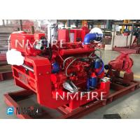 Buy cheap 500 GPM End Suction Fire Pump , High Strength Diesel Fire Water Pump 116 PSI from wholesalers