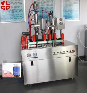 China Semi- Automatic Bag On Valve Aerosol Spray Filling Machine PLC Controlled High Output on sale