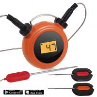 Cheap Heat Resistance Bluetooth Dual Probe Thermometer Mobile Operated 2 Probes for sale