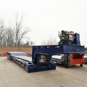Cheap TITAN Detachable Gooseneck 80 Ton Lowboy Trailer for transport excavator for sale