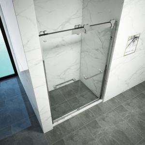 Cheap Double Sliding Aluminum Alloy Frame Toughened Glass Shower Door for sale