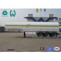 Cheap Sinotruk Howo Carbon Steel Tri - axle crude oil trailers One Compartment Emergency Valve for sale