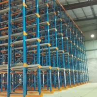 Cheap Red / Blue Medicine Warehouse Storage AS/RS Shuttle Car Racking System SGS  Certificate for sale