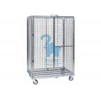 Cheap Multi - Level Foldable Wire Mesh Storage Cages Wire Mesh Cart With Wheels for sale