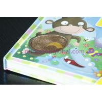 Cheap OEM high quality customed Children flocking board book printing services with competitive price for sale