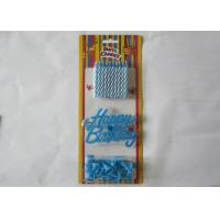 Cheap Blue Spiral Birthday Candles Paraffin Craft Candle No Smoke for Festivals for sale