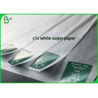 Cheap Virgin 1020mm Food Grade C1S White Paper 40gsm 50gsm For Sugar Packaging for sale