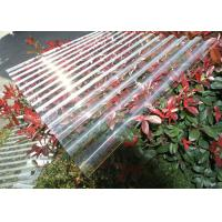 Cheap Thick Corrugated Perspex Roofing Sheets / Corrugated Polycarbonate Roof Panel for sale