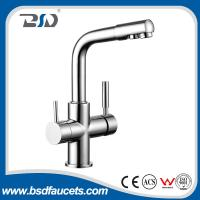 Cheap Brass Two Spout out Double Handles Water Filter Purifier 3 Ways Drinking Kitchen Faucet with Watermark Certification for sale
