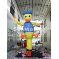 China Lovely Rip Stop Nylon Donald Duck Inflatable Advertising Air Dancers on sale
