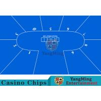 Flexible Three Card Roulette Table LayoutWith Velvet Suede Fabric Surface