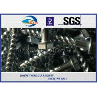 Quality GB standard Hot-Dip Galvanized Spiral Spikes with 35# Steel for railroad fastening wholesale