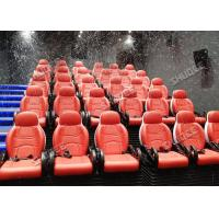 Cheap Incredible Bubble Machine 5D Theater System Deeply Immersion Luxury Red Motion Seats for sale