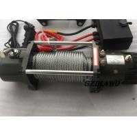 Cheap 12v Truck Heavy Duty Electric Winch 8.3mm Steel Wire 9500lbs For Off Road for sale
