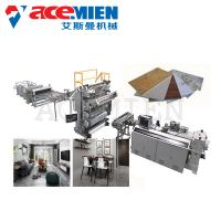 Cheap PVC Imitation Artificial Marble Making Machine Decoration With UV Coating for sale