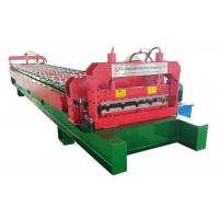 China PPGI / GI Roof Panel Roll Forming Machine , A / C Motor Metal Sheet Forming Machine on sale