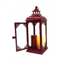 Cheap Innovative advertising product premium outdoor  Wedding Home Decoration Square Metal Candle metal block candle lantern for sale