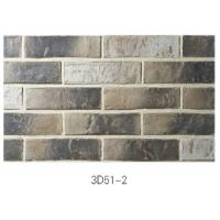 Cheap 3D51-2 Clay Thin Veneer Brick Low Water Absorption For Interior /Outdoor Brick Veneer wholesale