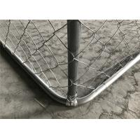 Buy cheap chain link/cyclone /hurrican dog kennel fencing 4'x6' x 10' chain mesh fabric 50mm x 50mm from wholesalers