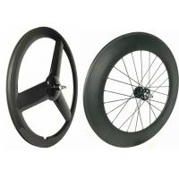 Cheap Glossy 700C Rear 88mm Track Wheels Light  Weight Anti Pull With Full Carbon Fiber for sale