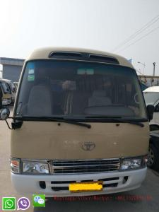 China 30 Seater LHD Steering Position Diesel Petrol Engine Used Toyota Coaster Bus on sale