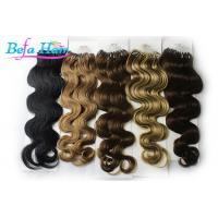 Cheap Dark Brown / Natural Red Keratin Micro Ring Human Hair Extensions Malaysian Virgin Hair for sale
