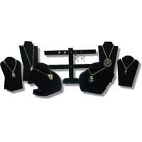 Quality 7pcs SET BLACK VELVET NECKLACE EARRING PENDANT CHAIN JEWELRY DISPLAY STAND for sale