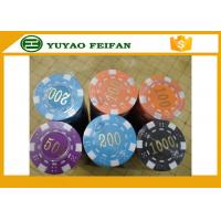Cheap ABS High Quality Poker Chips Dice Striped Plastic Poker Chip With Numbers for sale