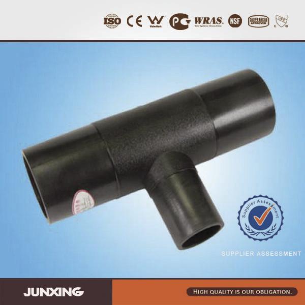 Polyethylene fitting pe pehd pipe fittings reducing tee